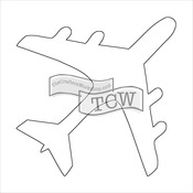 """Airplane - Crafter's Workshop Fragments Templates 4""""X4"""""""