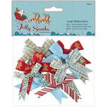 Papermania Jolly Santa Large Ribbon Bows