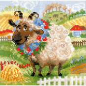 "8""X8"" 10 Count - The Farm Lamb Counted Cross Stitch Kit"