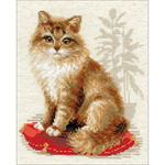 """9.5""""X11.75"""" 10 Count - Pet Cat Counted Cross Stitch Kit"""