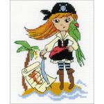 "5""X6.25"" 14 Count - Treasure Island Counted Cross Stitch Kit"