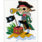"5""X6.25"" 14 Count - Brave Pirate Counted Cross Stitch Kit"