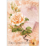 "8.25""X11.75"" 14 Count - Love Letters Rose Counted Cross Stitch Kit"