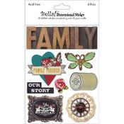 Bella! Family 3D Stickers