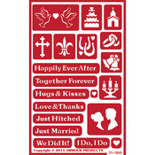"Happily Ever After - Over 'N' Over Reusable Stencils 5""X8"""