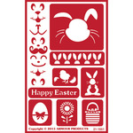 "Easter - Over 'N' Over Reusable Stencils 5""X8"""