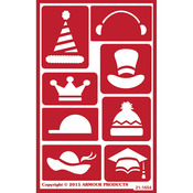 "Hat Time - Over 'N' Over Reusable Stencils 5""X8"""