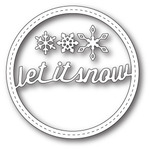 Stitched Let It Snow Circle Frame - Memory Box
