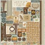 Nestled Details Sticker Sheet - Authentique