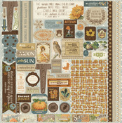 Nestled Details Sticker Sheet - Authentique