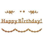 Happy Birthday - Spellbinders Shapeabilities Die D-Lites