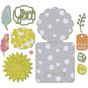 Fall Flowers Card - Sizzix Thinlits Dies 11/Pkg