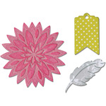 """Fall Flowers - Sizzix Bigz Die W/Bonus Textured Impressions 5.5""""X6"""""""