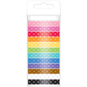 Polka Dot - Doodlebug Monochromatic Washi Tape 8mm, 12yds, 12/Pkg