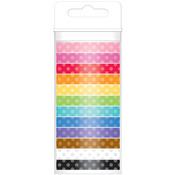 Polka Dot - Doodlebug Monochromatic Washi Tape 8mm, 12yds, 12/Pkg