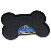 "Black - Bella Spill-Proof Bone Shaped Dog Mat 18.25""X13"""