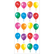 "Birthday Balloons - Paper House Puffy Stickers 3""X6.35"""