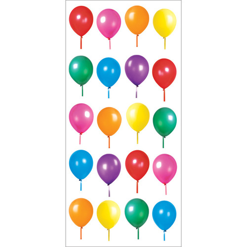 Birthday Balloons Puffy Stickers 3X635