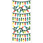 "Christmas Lights - Paper House Puffy Stickers 3""X6.35"""