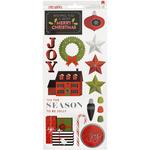 "'Tis The Season W/Silver Foil - Deck The Halls Remarks Cardstock Stickers 6""X12"" 2/Pkg"