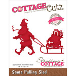 "Santa Pulling Sled 3.8""X2.7"" - CottageCutz Elites Die"