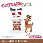 """Santa Stuck In Chimney 2.8""""X3"""" - CottageCutz Die"""