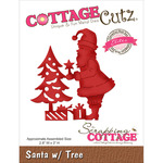 "Santa W/Tree 2.8""X3"" - CottageCutz Elites Die"