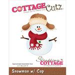 Snowman With Cap Die - CottageCutz