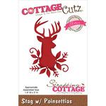 """Stag W/Poinsettias 1.9""""X3"""" - CottageCutz Elites Die"""
