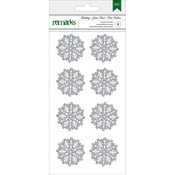 Silver Snowflakes - Holiday Remarks Glitter Stickers
