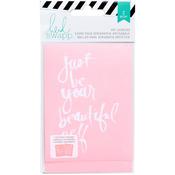 """Beautiful - Heidi Swapp Mixed Media Art Screens Stencils 3""""X4"""" 2/Pkg"""