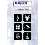 "Christmas Icons - IndigoBlu Cling Mounted Stamp 5""X4"""