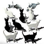 Silhouette Cat Shape Brads - Eyelet Outlet