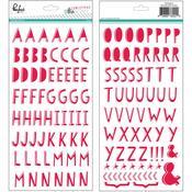 Christmas Wishes Puffy Alphabet Stickers - Pinkfresh