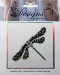 Dragonfly Jeweled Temporary Tattoo - Mark Richards