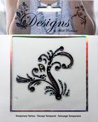 Purple Elegant Filigree  Jeweled Temporary Tattoo - Mark Richards
