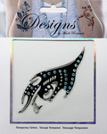 Black Flame Jeweled Temporary Tattoo - Mark Richards