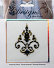 Black & Gold Design Jeweled Temporary Tattoo - Mark Richards