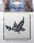 Peace Dove Jeweled Temporary Tattoo - Mark Richards