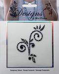 Purple Swish Jeweled Temporary Tattoo - Mark Richards