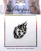 Multi Color Flame Jeweled Temporary Tattoo - Mark Richards