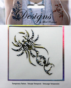 Scorpion Jeweled Temporary Tattoo - Mark Richards