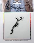 Small Black & White Swish Jeweled Temporary Tattoo - Mark Richards