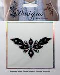 Black & Pink Design Jeweled Temporary Tattoo - Mark Richards