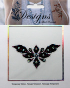 Black & Pink Design Jeweled Temporary Tattoo - Mark Richards