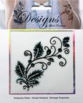 Black & Teal Design Jeweled Temporary Tattoo - Mark Richards