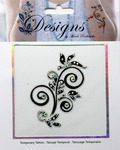 Black & Clear Design Jeweled Temporary Tattoo - Mark Richards