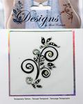 Black & Clear Design Jeweled Temporary Tattoo - Mark Richards