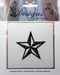 Large Star Jeweled Temporary Tattoo - Mark Richards