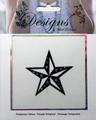 Large Star Jeweled Temporary Tattoo - Mark Richards